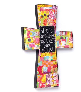"#D101946 - 15""H THIS IS THE DAY CROSS COLORFUL DEVOTIONS  -  6/CASE"