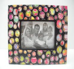 "#D101959 - 4""X 6""POLKA DOT FRAME-COLORFUL DEVOTIONS  -  12/CASE"
