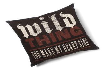 "#D102938 - 20""SQ.PILLOW - WILD THING LYRICOLOGY  -  16/CASE"