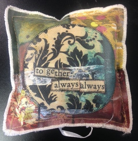 "#D13589 - 4"" SQ. PAPERWEIGHT-TOGETHER ALWAYS PB  -  24/CASE"