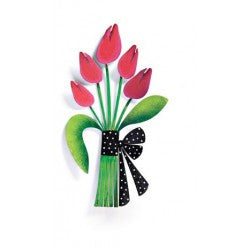 "#D13986 - 7.5"" TULIP BOUQUET MAGNET  -  72/CASE"