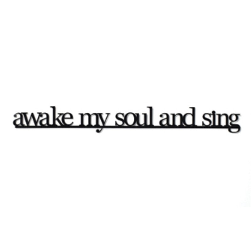 "#D17422 - 25.5"" PHRASE MAGNET-AWAKE MY SOUL AND SING  -  36/CASE"