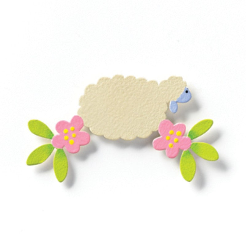 "#D17457 - 2"" LAMB & FLOWER BORDER MAGNET  -  96/CASE"
