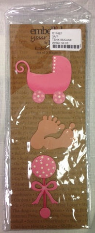 #D17487 - S/3 BABY GIRL MAGNETS  -  96/CASE
