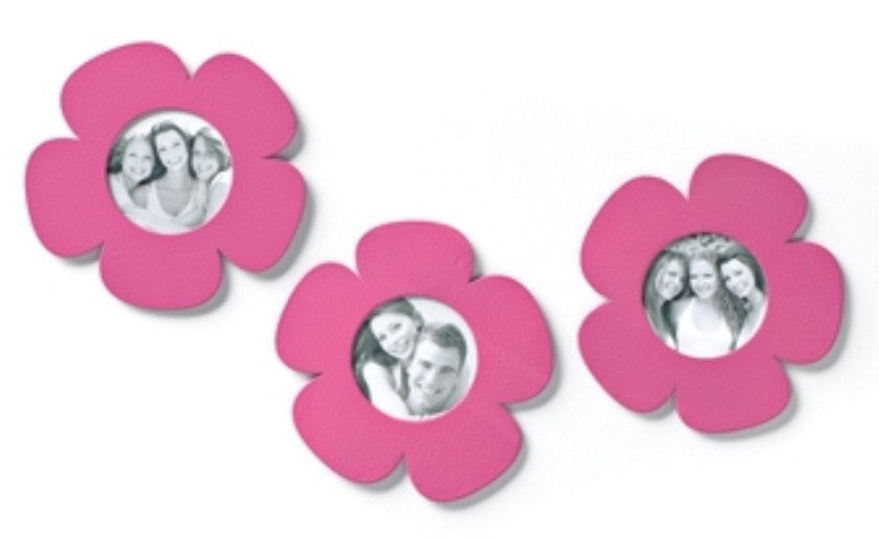 #D17491 - S/3 PINK FLOWER PHOTO MAGNETS  -  33/CASE