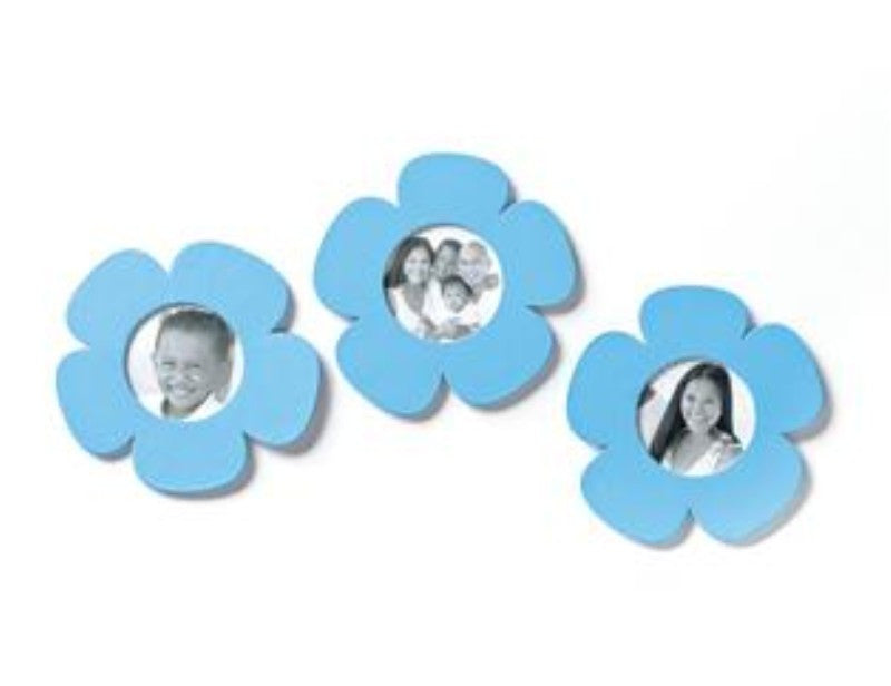 #D17493 - S/3 AQUA FLOWER PHOTO MAGNET  -  33/CASE