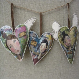 #D18069 - S/3 KELLY RAE HEART ORNAMENTS FAITH/HOPE/LOVE  -  32/CASE