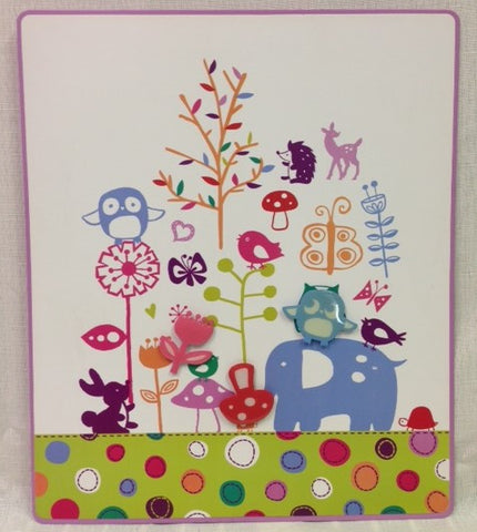 "#D18572 - 12.5"" ANIMAL TREE MEMO BOARD W/ 3 MAGNETS  -  16/CASE"
