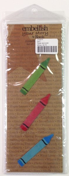 #D18974 - S/3 CRAYON MAGNETS  -  96/CASE