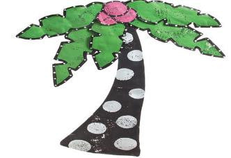 "#D20120015 - 30""PALM TREE DOOR HANGER  -  18/CASE"