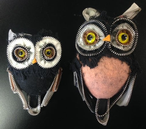 "#D20121429 - S/2 5-7"" ZIPPER OWL ORNAMENTS  -  16/CASE"
