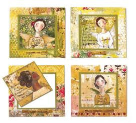 "#D20130385 - SET/4 5.5""SQ.MAGNETIC GREETING CARDS KELLY RAE  -  64/CASE"