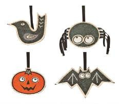 "#D20130513 - S/4 5.5"" JUTE HALLOWEEN CHARMS  -  96/CASE"
