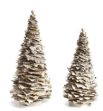 "#D20130619 - S/2 16""LAYERED MUSIC PAPER TREES  -  2/CASE"