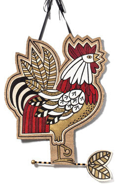 "#D20130913 - 22X29""STRUTTING ROOSTER WALL WALL DECOR  -  24/CASE"