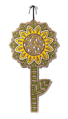 "#D20130916 - 21X38"" RADIANT SUNFLOWER WALL WALL DECOR  -  24/CASE"