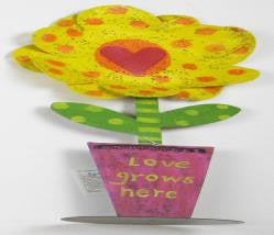 "#D20131196 - 17.5""FLOWER SCLPTR-LOVE GROWS  -  12/CASE"