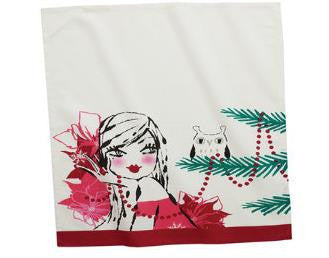 "#D2020140800 - 20.5X28""GIRL AND OWL TEA TOWEL  -  96/CASE"