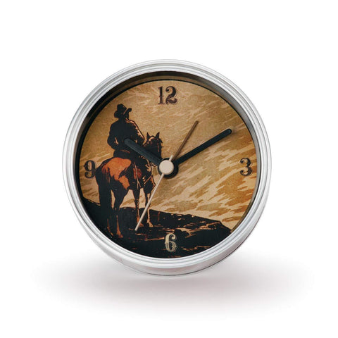 "#D3005051103 - 3.5""D COWBOY CLOCK IN A CAN  -  72/CASE"