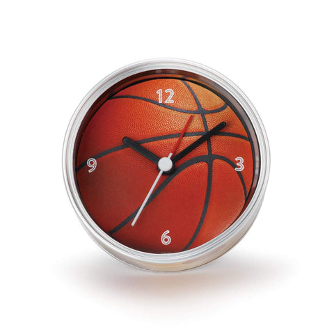 "#D3005051107 - 3.5""D BASKETBALL CLOCK IN CAN  -  72/CASE"