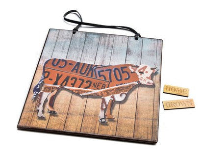 #D3005210339 - HOME GROWN COW MEMO BOARD  -  12/CASE
