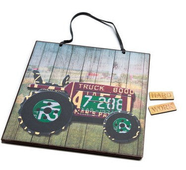 #D3005210342 - HARD WORK TRACTOR MEMO BOARD  -  12/CASE