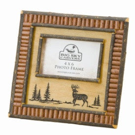 "#D30177030 - 4X6""RED TWIG DEER FRAME  -  12/CASE"