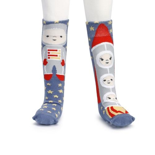 #D5004700487 - ASTRONAUT/ROCKETSHIP KNEE SOCK TODDLER 18-36 MO. STORY TIME  -  240/CASE