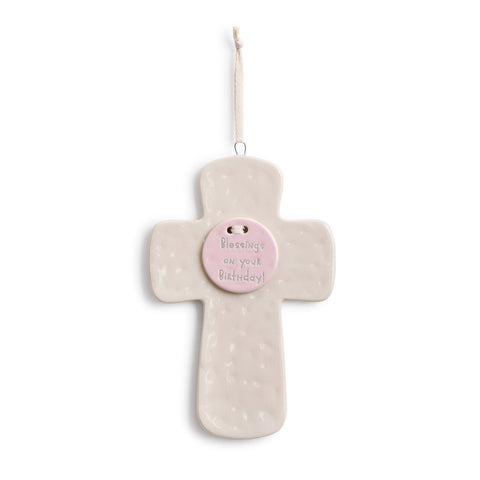 "#D5004700646 - 5.25""X7.75""BLESSINGS ON YOUR BIRTHDAY PINK CROSS  -  18/CASE"