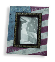 "#D77704 - AMERICANA 5X7"" FRAME - UNDER GOD'S PROTECTION  -  6/CASE"