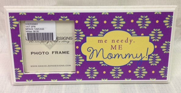 #DDER20401 - WOOD PHOTO FRAME-ME NEEDY  -  120/CASE