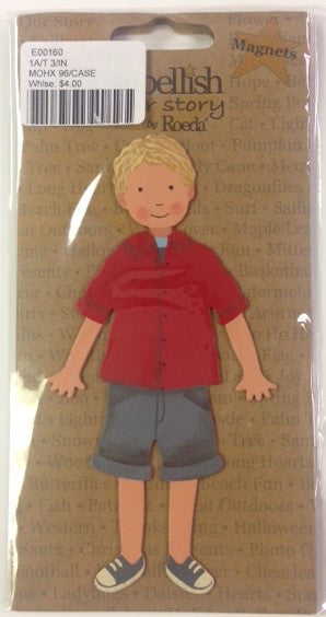 "#E00160 - 5.5""H CHRISTOPHER BOY MAGNET  -  96/CASE"