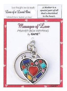 #EL8121 - PRAYER KEYRING BOX-A MOTHER'S LOVE  -  288/CASE