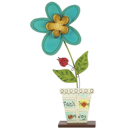#FLTTM-12 - FLOWER TABLETOP FIG.FAITH/HOPE  -  6/CASE