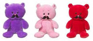 "#HV9109 - 7.5""MUSTACHE BEAR  -  48/CASE"