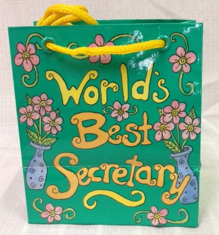 #L77161 - BEST SECRETARY GIFT BAG SML.  -  576/CASE