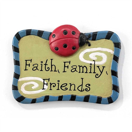"#MA-551 - 2""PINK RES.MAGNET-FAITH,FAMILY FRIENDS  -  144/CASE"