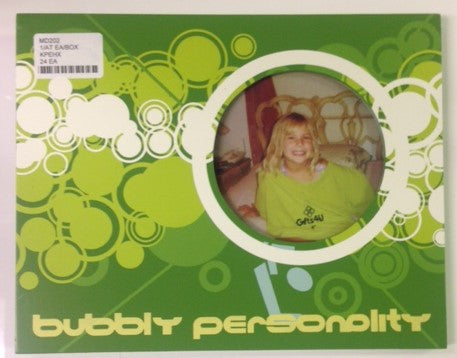 "#MD202 - 4""GREEN BUBBLY PERSONALITY FRAME  -  24/CASE"