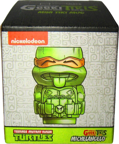 #MICHELANGELO - TMNT MINI TIKI MUG-ORANGE MICHELANGELO  -  48/CASE