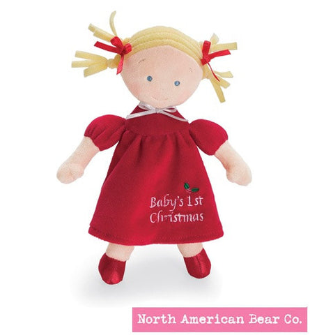 "#NAB6163 - 10""BABY'S 1ST XMAS PRINCESS DOLL-BLOND  -  70/CASE"