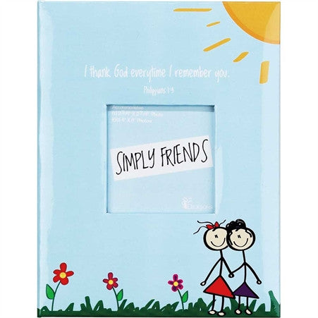 "#PA-28 - 4X6""PHOTO ALBUM-SIMPLY FRIENDS  -  48/CASE"
