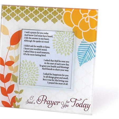 "#PFG-15 - 3.75""SQ.GLASS FRAME-PRAYER  -  24/CASE"