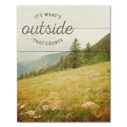 "#SCE1009 - 8""X10""PLAQUE-IT'S WHAT IS ON THE OUTSIDE THAT COUNTS  -  32/CASE"