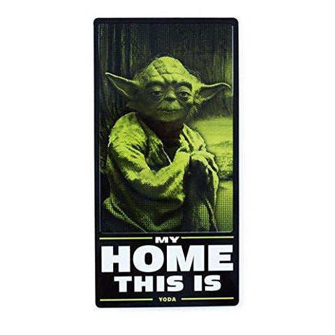 "#SHP4022 - 6.25""X12.5"" YODA HOME TIN SIGN  -  40/CASE"