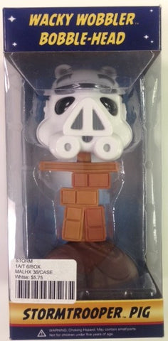#STORM - ANGRY BIRDS-STAR WARS BOBBLE HEAD STORM TROOPER PIG  -  36/CASE