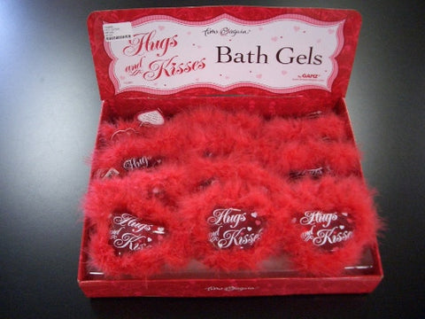 #TA0860 - HUGS & KISSES HEART BATH GELS  -  48/CASE