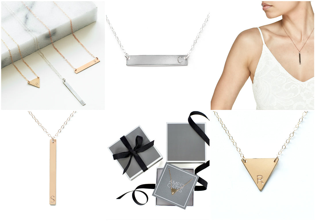 Best Jewelry  Holiday Gifts 2016. Personalized necklaces.