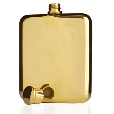 Gold flask coated with 14k real gold. Perfect Gift.