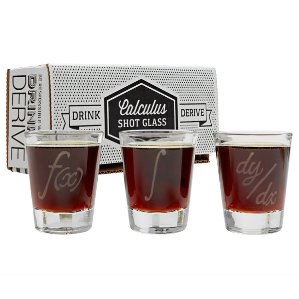 Calculus Symbols Shot Glasses (Set of 3)
