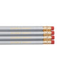 Fun Pencils. Quote Pencils. Silver Pencils with Gold accents. Celebrate Moments Pencils.